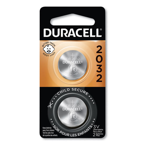 Duracell® Lithium Coin Battery, 2032, 2/Pack