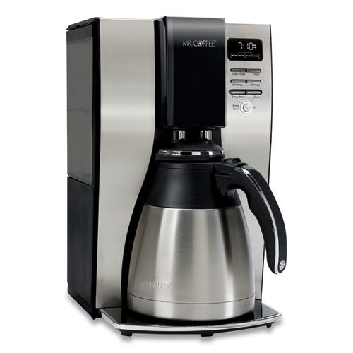 10-Cup Thermal Programmable Coffeemaker, Stainless Steel/Black