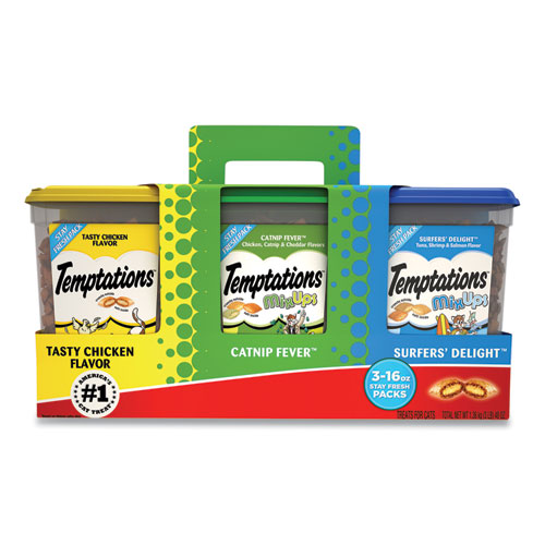 Cat Treats, Catnip Fever/Sailors Delight/Tasty Chicken, 16 oz Container, 3/Pack, Free Delivery in 1-4 Business Days