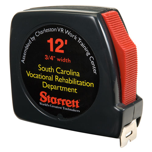 5210001824797, SKILCRAFT Tape Measure, 0.75 x 10 ft Power Return and Belt Clip, Steel