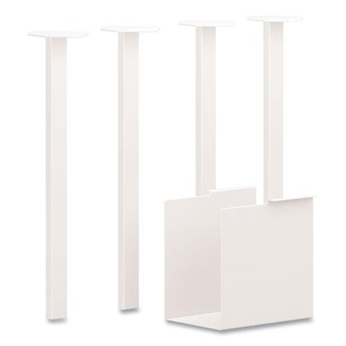 Coze Table Legs, 5.75 x 28, Designer White, 4/Pack
