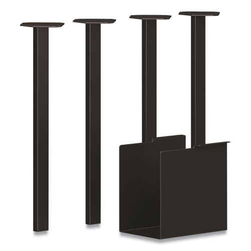 Coze Table Legs, 5.75 x 28, Black, 4/Pack