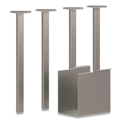 Coze Table Legs, 5.75 x 28, Silver, 4/Pack