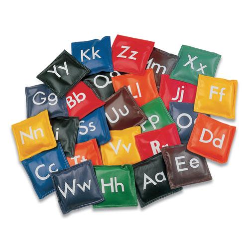 Alphabet Bean Bag Set, Vinyl, Assorted Colors, 26/Set