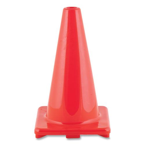Hi-Visibility Vinyl Cones, 18 Tall, Orange