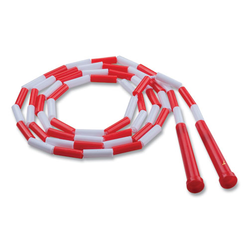 Segmented Plastic Jump Rope, 7ft, Red/White