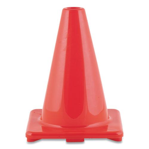 Hi-Visibility Vinyl Cones, 6 Tall, Orange