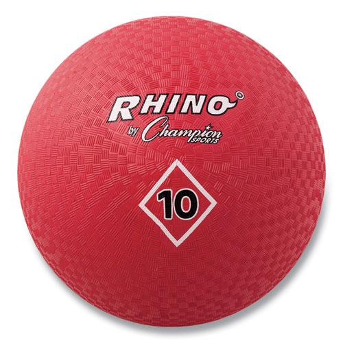 Playground Ball, 10 Diameter, Red