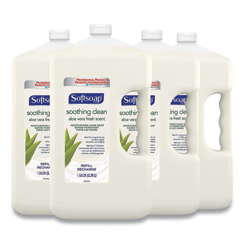 Softsoap® Liquid Hand Soap Refill with Aloe, Unscented, 1 gal Refill Bottle, 4/Carton