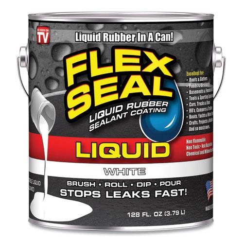 Liquid Rubber, 128 oz Can, White