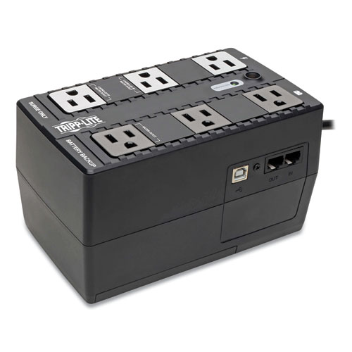 ECO Series Energy-Saving Standby UPS, USB, 6 Outlets, 350 VA, 316 J
