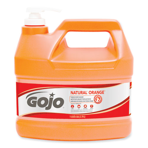 NATURAL ORANGE Pumice Hand Cleaner, Citrus, 1 gal Pump Bottle, 2/Carton