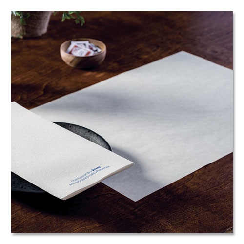 Solid Color Embossed Straight Edge Placemats, 10 x 14, White, 1,000/Carton