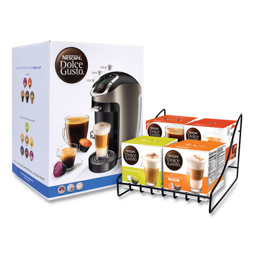Esperta 2 With Four Gusto Coffees and Rack Bundle, Black/Gray, Delivered in 1-4 Business Days