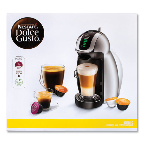 Genio 2 With Four Gusto Coffee and Rack Bundle, Black/Silver, Delivered in 1-4 Business Days