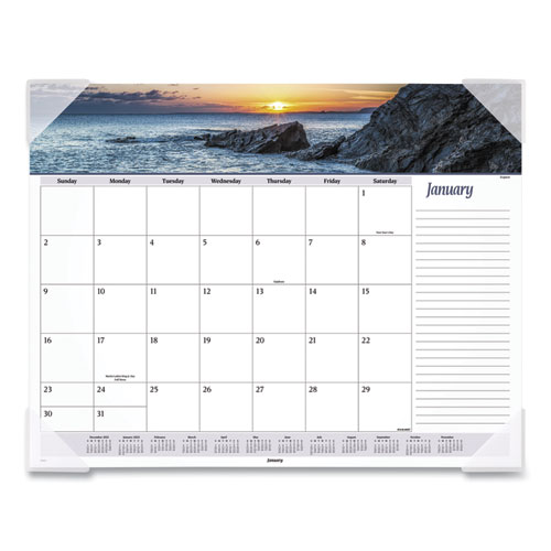 Seascape Panoramic Desk Pad, 22 x 17, 2021