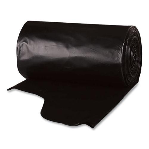 Berry Plastics Heavy-Duty Low-Density Wing Tie Contractor Bags, 42 gal, 3 mil, 32.75 x 45.13, Black, 20 Bags/Roll, 4 Rolls/Carton