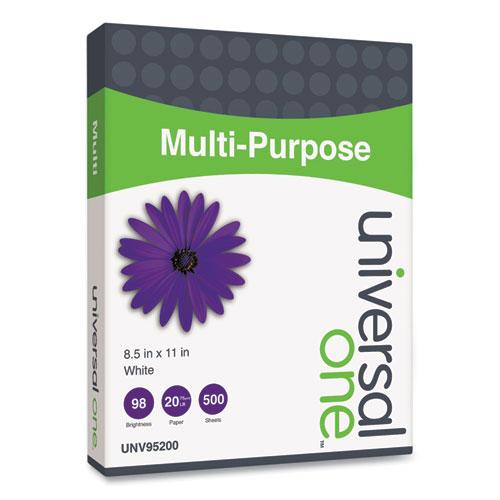 Multipurpose Paper, 96 Bright, 20 lb, 8.5 x 11, Bright White, 500 Sheets/Ream, 5 Reams/Carton