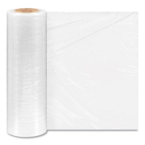 "Extended Core Cast Stretch Wrap, 15"" x 1,500 ft, 80-Gauge, Clear, 4/Carton"