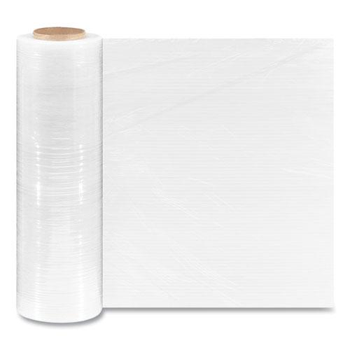 "Extended Core Cast Stretch Wrap, 18"" x 1,500 ft, 70-Gauge, Clear, 4/Carton"