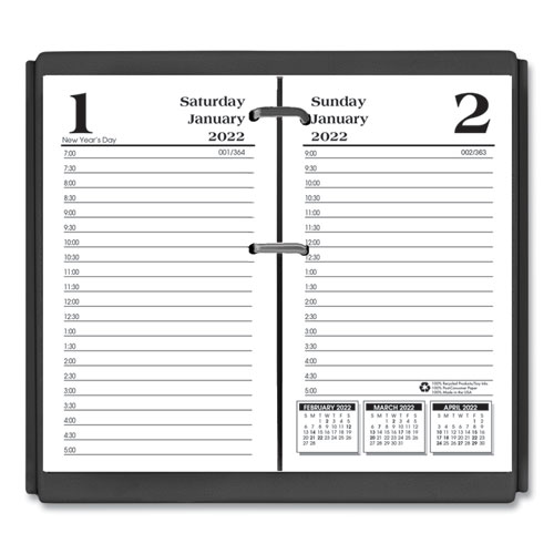 Economy Daily Desk Calendar Refill, 3.5 x 6, 2022