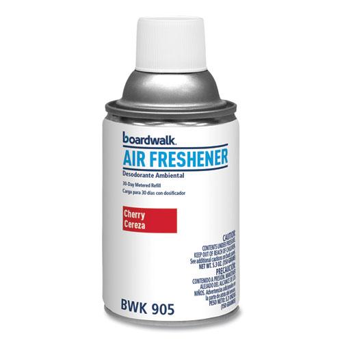Metered Air Freshener Refill, Cherry, 5.3 oz Aerosol Spray, 12/Carton