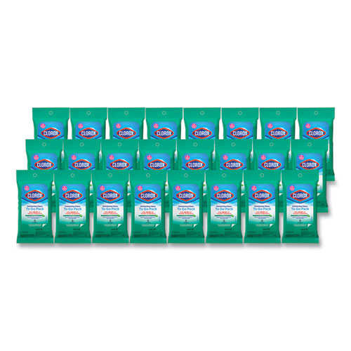 Disinfecting Wipes On The Go, Fresh Scent, 7 x 8, 9/Pack, 24 Packs/Carton