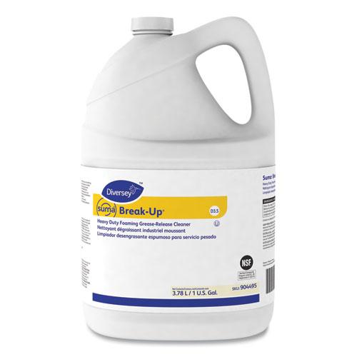 Suma Break-Up Heavy-Duty Foaming Grease-Release Cleaner, 1 gal Bottle, 4/Carton
