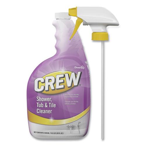 Crew Shower, Tub and Tile Cleaner, Liquid, 32 oz, 4/Carton