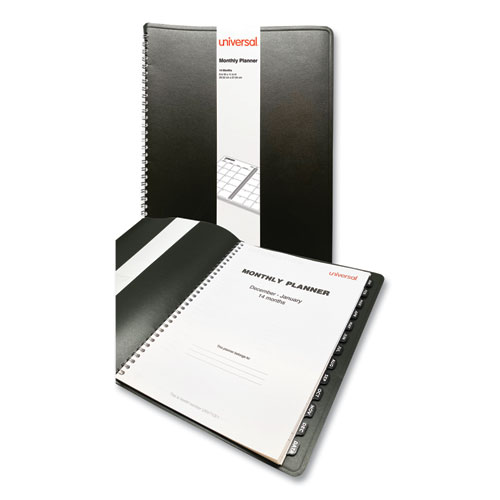 Monthly Planner, 11 x 8, Black, 2022