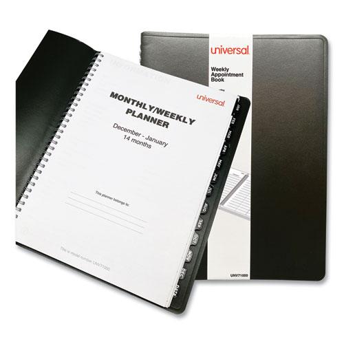 Weekly Planner, 11 x 8, Black, 2022