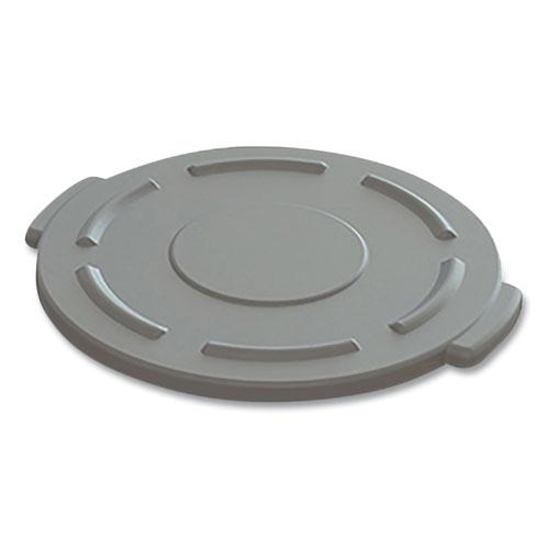 "Impact® Value-Plus Gator Container Lids, For 20 gal, Flat-Top, 20.4"" Diameter, Gray"