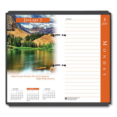 Earthscapes Desk Calendar Refill, 3.5 x 6, 2022