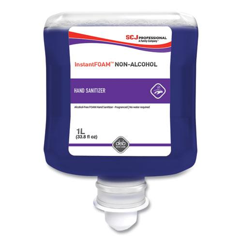 SC Johnson® InstantFOAM Non-Alcohol Hand Sanitizer, 1 L Refill, Light Perfume, 6/Carton