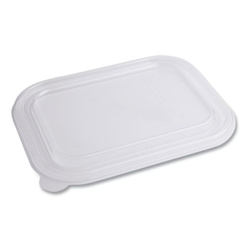 World Centric® PLA Lids for TRSC60 Fiber Containers, 7.8 x 10.2 x 0.5, Clear, 400/Carton