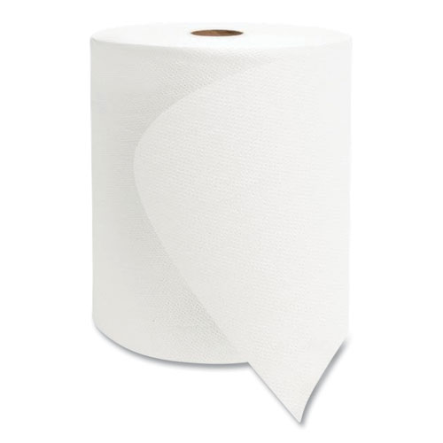 """Morcon Tissue Valay Universal TAD Roll Towels, 1-Ply, 8"""" x 600 ft, White, 6 Rolls/Carton"""