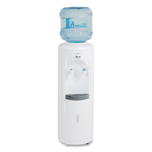 Cold and Room Temperature Water Dispenser, 3-5 gal, 11.5 x 12. 5 x 34, White