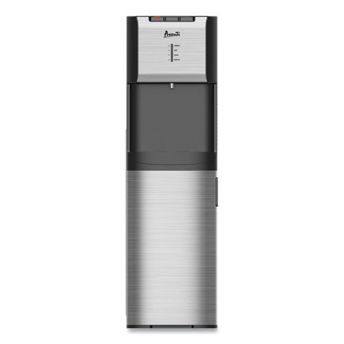 Hot and Cold Bottom Load Water Dispenser, 3-5 gal, 12.25 x 14 x 41.5, Black/Stainless Steel