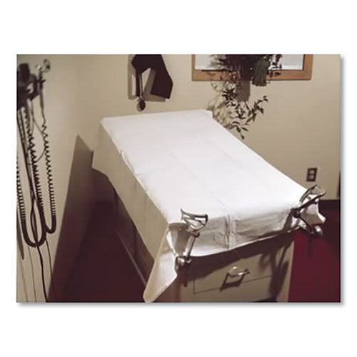 Disposable Tissue/Poly Drape Sheets, 40 x 72, White, 50/Carton