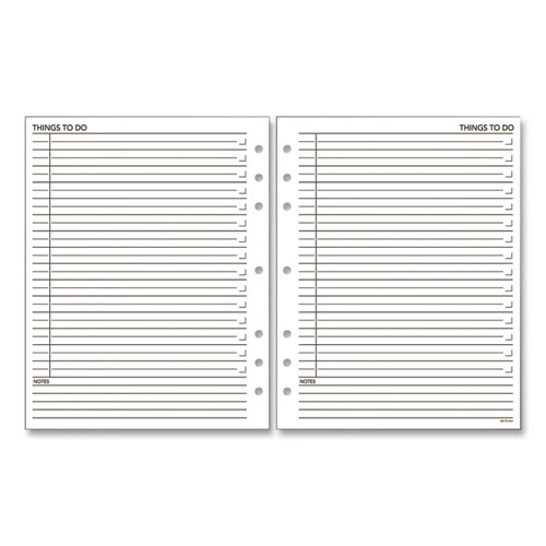 """""""Things To Do"""" Planner Refill, 7-Hole Punched, 15 Ruled Entries/Page, 11 x 8.5, 30 Sheets"""