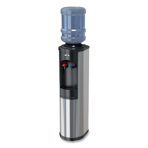 Artesian Bottle Hot and Cold Water Dispenser, 1.4 gal. Cold/2.11 gal. Hot Water/Hour, 12 x 12.5 x 38.1, Stainless Steel/Black
