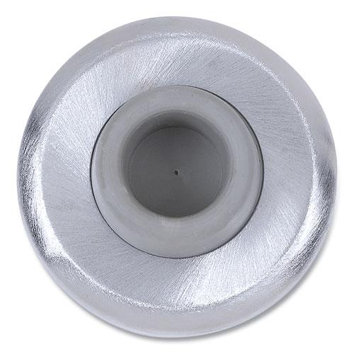 Tell® Concave Wall Bumper, 5 x 2 x 6, Satin Chrome