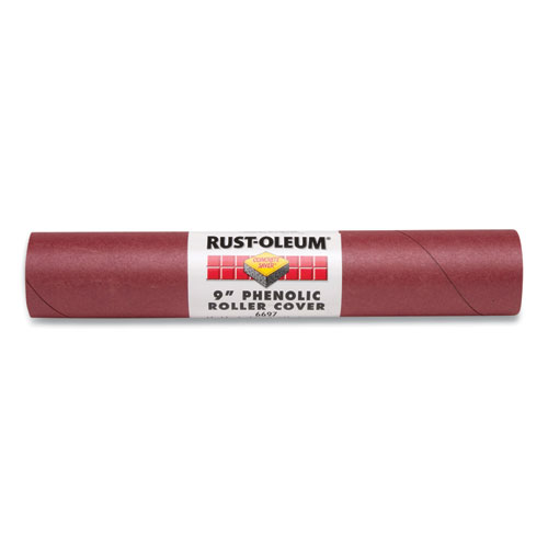 """Concrete-Saver Phenolic Roller Cover, 9"""", For Smooth and Semi-Smooth Surfaces, Maroon"""