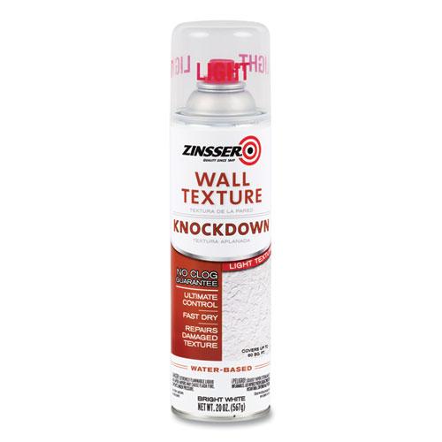Water-Based Knockdown Texture Spray, Interior, Light Texture, Bright White, 20 oz Aerosol Can