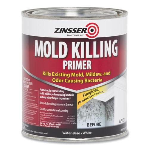 Mold Killing Primer, Interior, Flat White, 1 qt Bucket/Pail