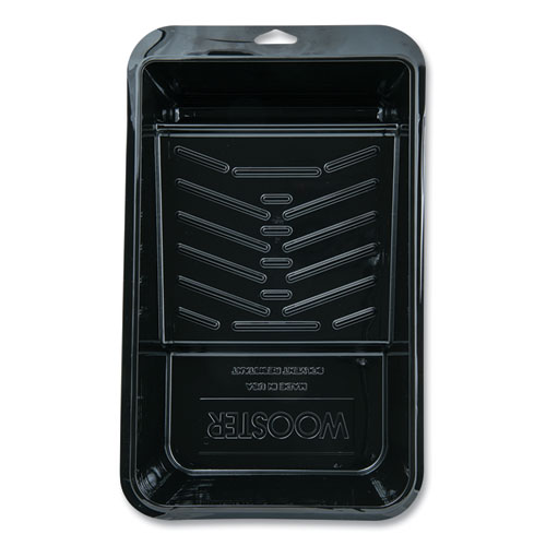 Jumbo-Koter Plastic Roller Tray, 0.5 qt Capacity, 7.25 x 15 x 3, Black