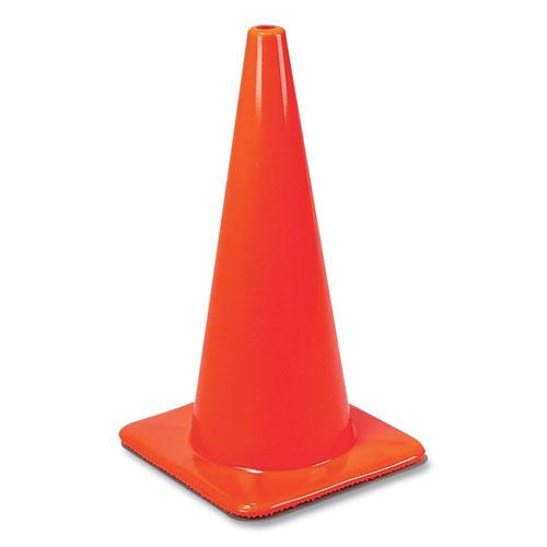 "W Series Traffic Cone, 28"" h, Orange"