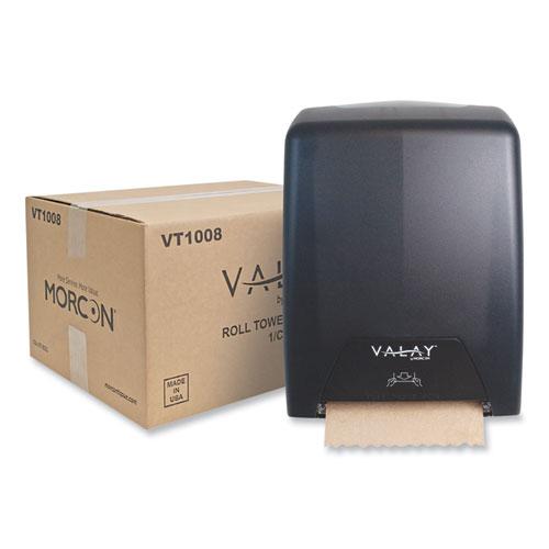 Morcon Tissue Valay Proprietary Roll Towel Dispenser, 11.75 x 8.5 x 14, Black