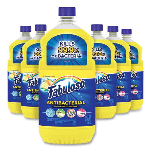 Fabuloso® Antibacterial Multi-Purpose Cleaner, Sparkling Citrus Scent, 48 oz Bottle, 6/Carton