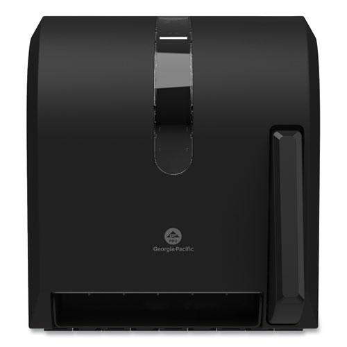 Georgia Pacific® Hygienic Push-Paddle Roll Towel Dispenser, 13 x 10 x 14.4, Black